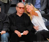 Jack Nicholson poses for a fun selfie from courtside seat as he watches his beloved LA Lakers slide to defeat
